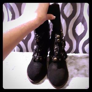 Shoes - STUDDED HEEL BOOT